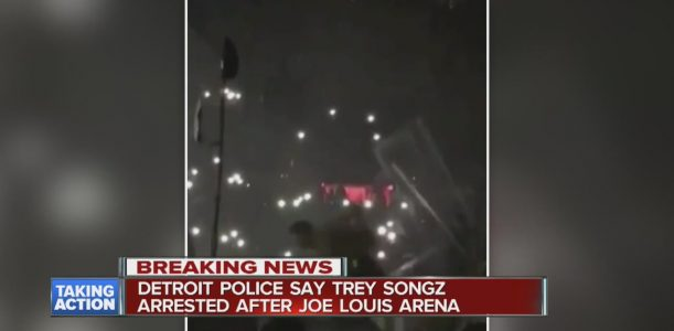 Detroit police say Trey Songz arrested at Joe Louis Arena